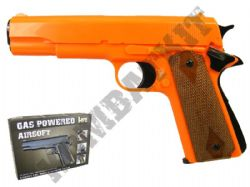 HG121 Gas Powered Airsoft BB Gun Black and Orange